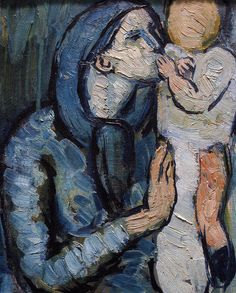 Pablo Picasso - Mother and Child by a Fountain, 1901 (detail) Pablo Picasso, Kunst Picasso, Art Picasso, Picasso Paintings, Spanish Painters, Spanish Artists, Guernica, Cubist Movement, Art Moderne