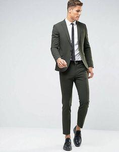 ASOS Skinny Suit In Khaki