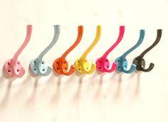 Colourful Mix And Match Aluminium Hooks
