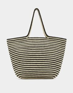 Contrasting maxi tote bag - New - Woman - PULL&BEAR Indonesia
