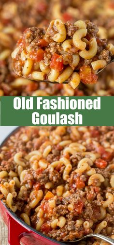Old Fashioned Goulash - The same American goulash recipe that you grew up with. A hearty recipe that the entire family can enjoy any night of the week. Easy Casserole Recipes, Pasta Recipes, Cooking Recipes, Geound Beef Recipes, Beef Meals, Meal Recipes, Rice Recipes, Italian Recipes, Best Goulash Recipes