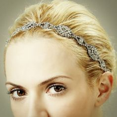 Have you thought of your head jewelry yet? Vintage inspired wedding rhinestone headband