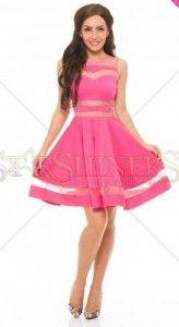 Rochii-de-Ocazie-Ieftine-Roz -Rochie-Baby-Doll-scurta-Roz-Dolly Women's Fashion, Floral, Vintage, Style, Swag, Fashion Women, Womens Fashion, Flowers