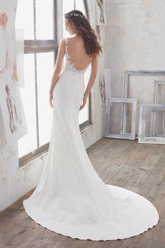2017 vestidos de boda de la gasa de espalda abierta de la cucharada de la sirena con apliques US$ 219.99 VEPLFG1RD5 - 2016Vestido.com for mobile