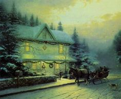 Victorian Christmas IV Paper All Other Kinkade Prints | eBay