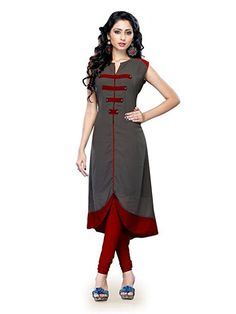 Kenil Fabrics Women's Cotton Kurti (Ken-Gray_Grey_Free Size) 399/- Only