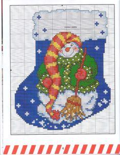snowman stocking 1