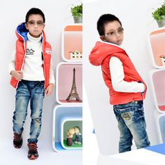 Aliexpress.com : Buy Free Shipping Kids Fashion Waistcoats for Little Boys Winter Wear Cool Hooded Vests K0279 from Reliable Kids Fashion Waistcoats suppliers on FANCY TEAM - Best Supplier From China