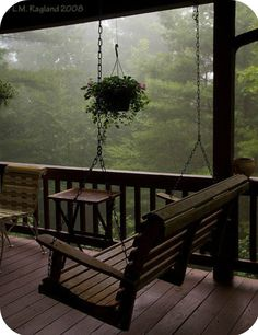 Peaceful porch swing