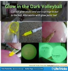 Glow in the Dark Volleyball. Nice for night time volleyball game Glow Paint, Neon Party, 16th Birthday, Birthday Sash, Summer Birthday, Birthday Ideas, Glow Sticks, Glow Stick Party, Summer Activities