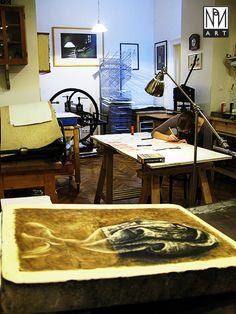 graphic workshop, litograph stone