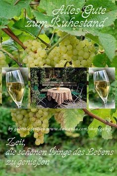Karte zum Ruhestand Wein von PHOTOGLÜCK auf DaWanda.com