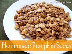 How to Roast Pumpkin Seeds {Homemade Pepitas}
