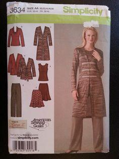 Simplicity 3634 Misses Pants Skirt Knit by Noahslady4Patterns