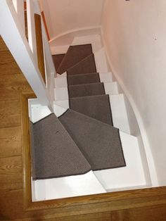 Client: Private Residence In West London Brief: To Supply And Install A  Grey Stair Carpet Runner.