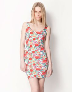 Bershka Turkey - Bershka flower print dress