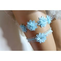 FREE SHİP Wedding Garter,Blue Lace Bridal Garter, The Same Lace... ($35) via Polyvore featuring intimates