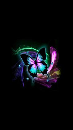 Wallpaper wallpaper by - - Free on ZEDGE™ Purple Butterfly Wallpaper, Butterfly Background, Flower Phone Wallpaper, Heart Wallpaper, Butterfly Art, Cellphone Wallpaper, Love Wallpaper Backgrounds, Neon Wallpaper, Animal Wallpaper