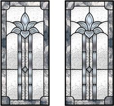 Custom cabinet doors (to match our stained glass)