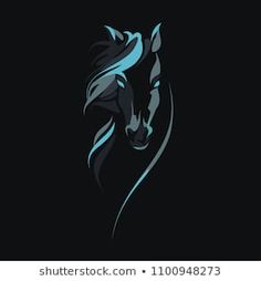 Find Vector Silhouette Horses Head stock images in HD and millions of other royalty-free stock photos, illustrations and vectors in the Shutterstock collection. Horse Face Drawing, Horse Drawings, Black Art Painting, Stone Painting, Horse Head, Horse Art, Tattoo Caballo, Horse Stencil, Horse Coloring Pages