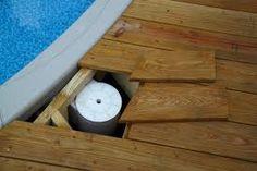 how to deck around pool skimmer basket