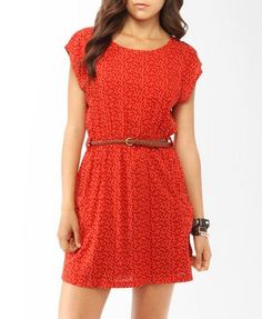 Forever21 - Product code: 2000044089. Confetti Print Dress with Belt. I need to lose a lot of weight!