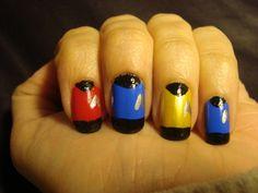 Star Trek inspired nails. Freehand nail art #startrek #trekker