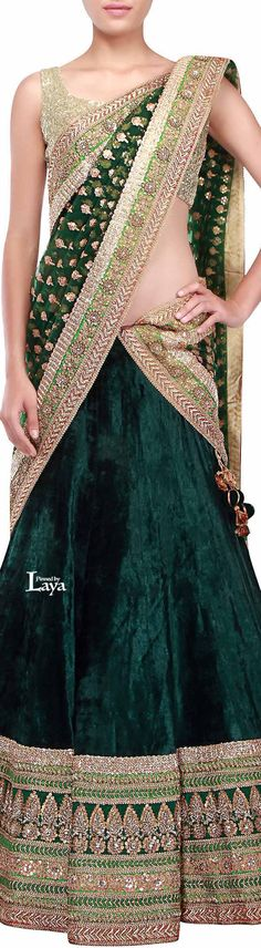 Not digging the velvet skirt, but oh well. This is still nice. Indian Bridal Wear, Indian Wedding Outfits, Indian Wear, Indian Outfits, Bride Indian, Indian Weddings, Pakistani Dresses, Indian Dresses, Moda India