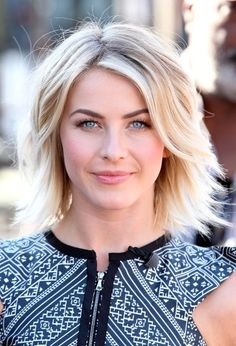 Julianne Hough Layered Razor Cut: Julianne Hough looked chic and fun with her layered razor cut during her appearance on 'Extra.'