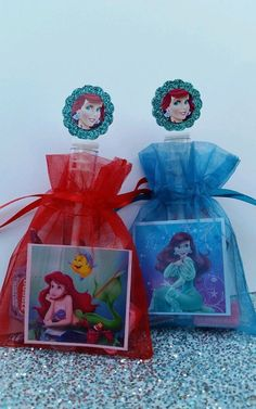 12 Ariel Birthday Party Favor Bags Little Mermaid by ThePartyDaddy