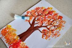 Autumn Tree Portray Concepts for Youngsters - Fall Arts And Crafts, Thanksgiving Crafts For Kids, Fall Crafts For Kids, Art For Kids, Fall Art For Toddlers, Fall Activities For Kids, Autumn Art Ideas For Kids, Fall Crafts For Toddlers, Easy Fall Crafts