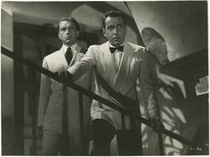 "Humphrey Bogart and Paul Henreid in ""Casablanca"" (Warner Brothers, Photo X Vintage gelatin silver, s. Oscar Best Picture, Best Picture Winners, Casablanca 1942, Casablanca Morocco, Paul Henreid, Bogie And Bacall, Cinema, Humphrey Bogart, Indiana Jones"