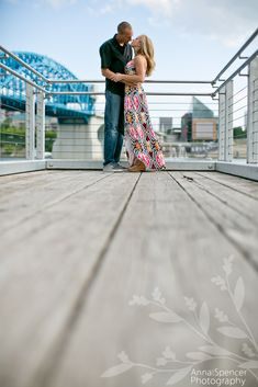 Anna and Spencer Photography , Chattanooga Pedestrian Bridge Engagement Session .