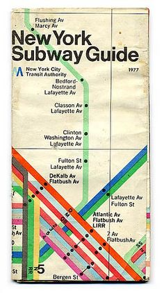 New York Subway Guide, 1977 Nyc Train, Train Map, New York Subway, Nyc Subway, York Train Station, Neville Brody, Subway Map, Mind The Gap, I Love Ny