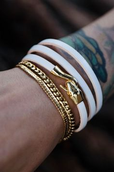 Isn't this White Gold Bracelet stylish enough to flaunt it