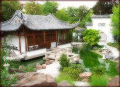 """Chinese Garden """"Garten der schönen Melodie"""" - Stuttgart, Germany by Batikart, via Flickr"""