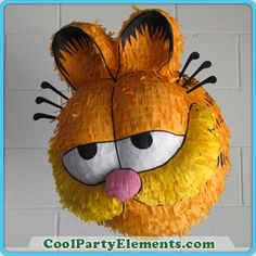cool custom homemade Garfield Pinata... fill w/ chocolate at ur own risk