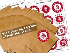 Deko und Accessoires für Weihnachten: Adventskalender made by SupaRina via DaWanda.com