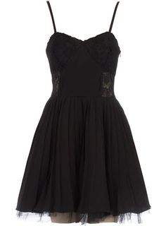 Black strappy party dress with tuille bottom