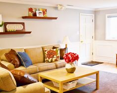 Three Room Makeover reveal with waintscoting and new paint - LOVE this transformation!