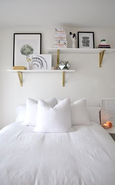 Bright and Airy Bedroom Makeover on a Budget · A Plentiful Life Budget Bedroom, Home Decor Bedroom, Living Room Decor, Bedroom Ideas, Bedroom Inspiration, Living Rooms, Apartment Therapy, Airy Bedroom, Trendy Home Decor