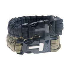Safety #outdoor survival bracelet with flint fire starter #scraper #whistle gear,  View more on the LINK: http://www.zeppy.io/product/gb/2/231689222715/