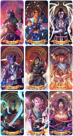 [No spoilers] The whole gang as Major Arcana : criticalrole Critical Role Comic, Critical Role Characters, Critical Role Campaign 2, Critical Role Fan Art, Dnd Characters, Fantasy Characters, Fantasy Character Design, Character Concept, Character Inspiration