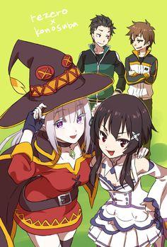 """Emilia"" ""Megumin"" ""Natsuki Subaru"" ""Satou Kazuma"""