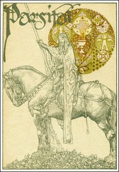 Edition of Parsifal illustrated by Willy Pogany, 1912.  Title.