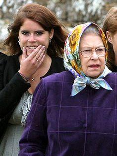 Queen Elizabeth with Princess Eugenie