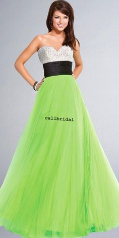 Neon Green Prom Dresses | Coat Pant | Michelle | Pinterest | Coats ...