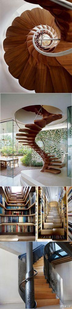 几款漂亮的木制楼梯设计。 - 堆糖 发现生活_收集美好_分享图片