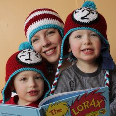 It's Dr. Seuss's birthday! Celebrate by making these crochet Thing 1 and Thing 2 hats by Micah Makes.