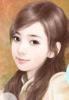 chinese art 手绘美女